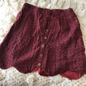 Urban outfitters button up skirt
